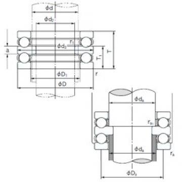 NACHI 52217 thrust ball bearings
