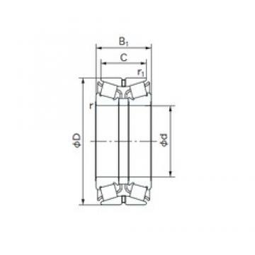 NACHI 55KBE02 tapered roller bearings