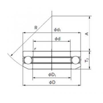NACHI 53228 thrust ball bearings