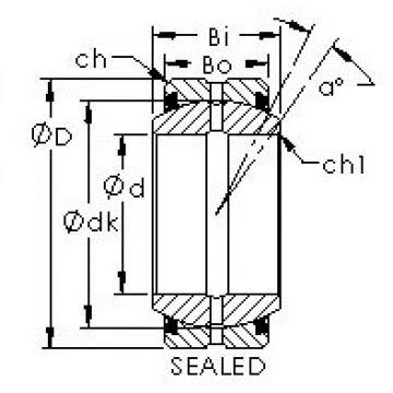 AST GEZ127ES-2RS plain bearings