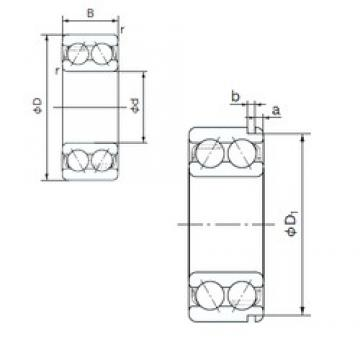 NACHI 5308N angular contact ball bearings