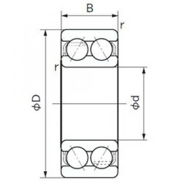 NACHI 5210A angular contact ball bearings