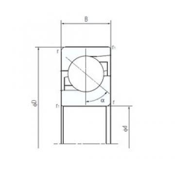NACHI 100TAF21 thrust ball bearings