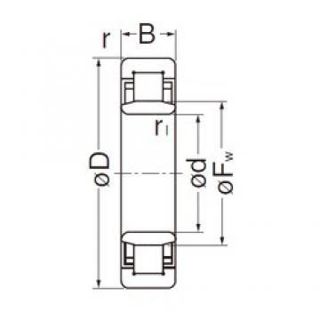 NACHI NU2209EG cylindrical roller bearings