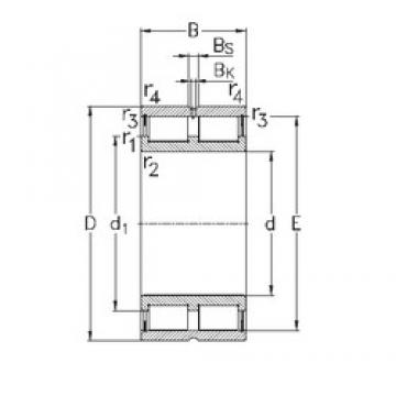 NKE NNCL4852-V cylindrical roller bearings