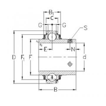 NKE GYE80-KRRB deep groove ball bearings