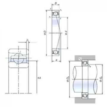 NSK 80BER10X angular contact ball bearings