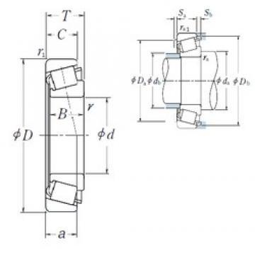 NSK HR32213J tapered roller bearings