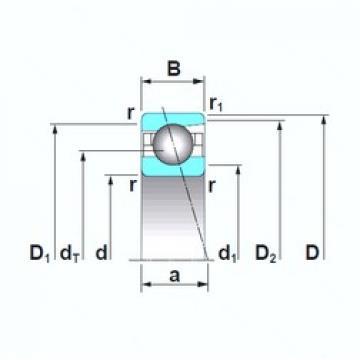 NSK 7914A5TRSU angular contact ball bearings