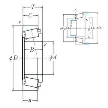 NSK EE752300/752380 cylindrical roller bearings