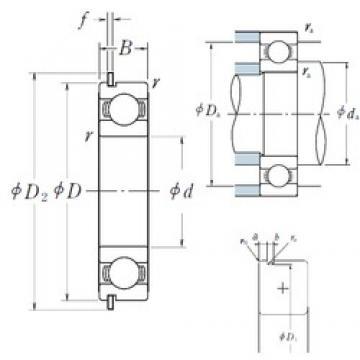 NSK 6819NR deep groove ball bearings