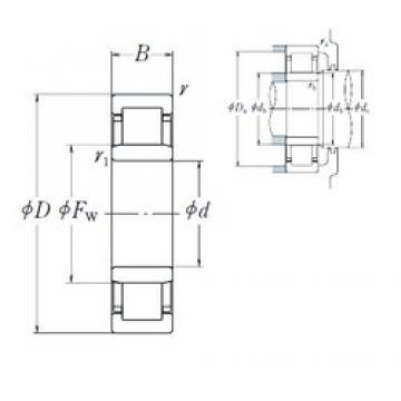 NSK NU 304 ET cylindrical roller bearings