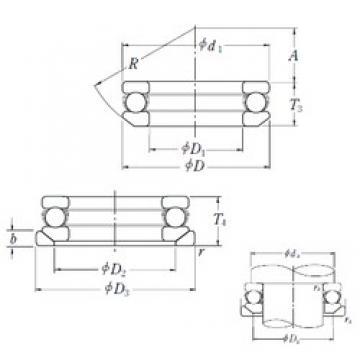 NSK 53312U thrust ball bearings