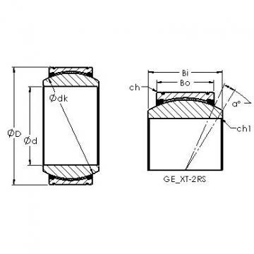 AST GE140XT-2RS plain bearings