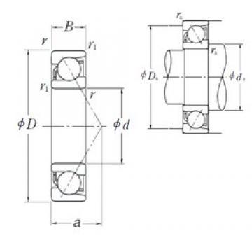 NSK 7006 A angular contact ball bearings