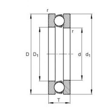FAG 51213 thrust ball bearings