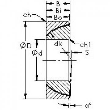 AST GAC105T plain bearings