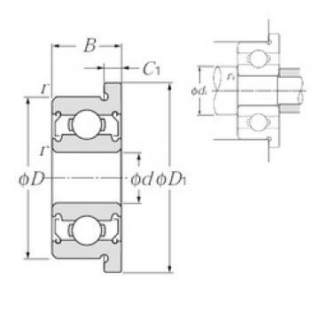 NTN FL605ZZ deep groove ball bearings