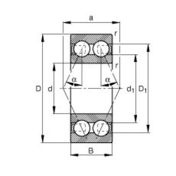 FAG 3207-BD angular contact ball bearings