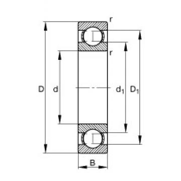 FAG 6221 deep groove ball bearings