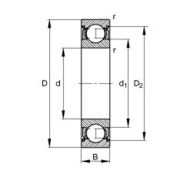 FAG 6306-2Z deep groove ball bearings