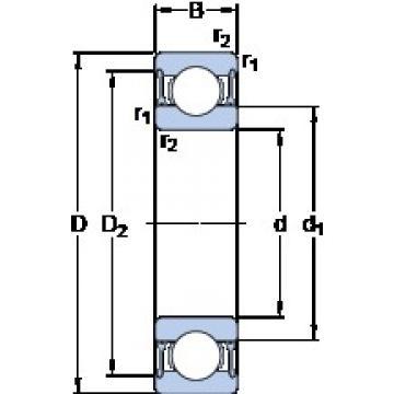 SKF W 6301-2RZ deep groove ball bearings