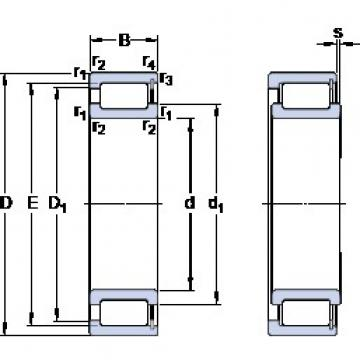 SKF NCF 28/560 V cylindrical roller bearings