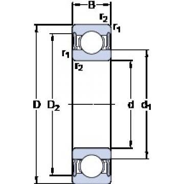 SKF W 61814-2RS1 deep groove ball bearings