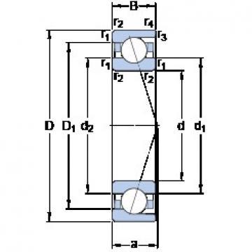 SKF 71930 CD/HCP4A angular contact ball bearings