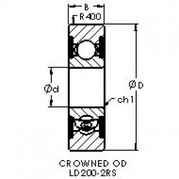 AST LD201-2RS deep groove ball bearings