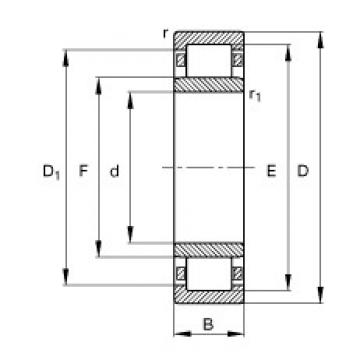 FAG NU260-E-TB-M1 cylindrical roller bearings