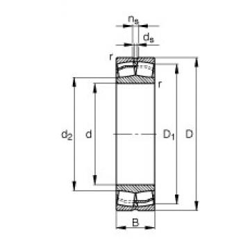 FAG 23236-E1-TVPB spherical roller bearings