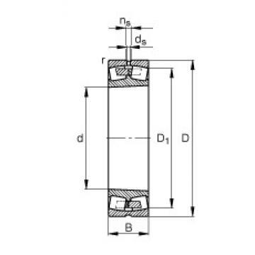 FAG 249/670-B-K30-MB spherical roller bearings