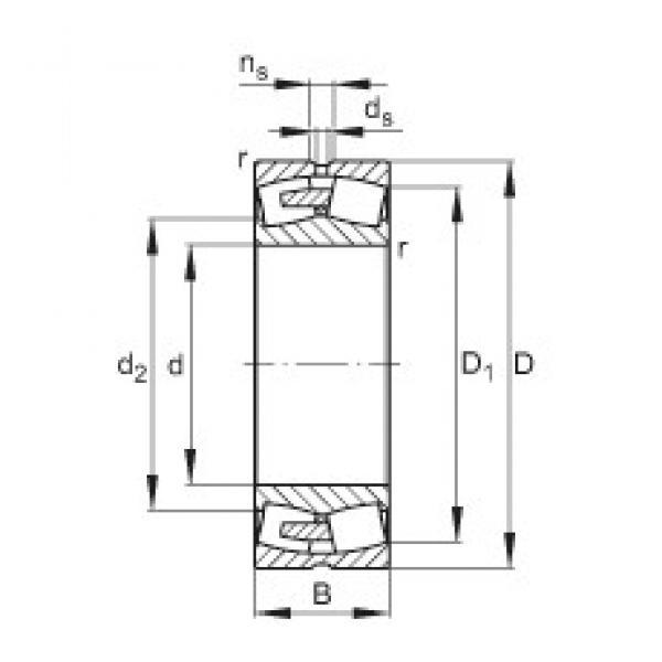 FAG 23076-E1A-MB1 spherical roller bearings #2 image
