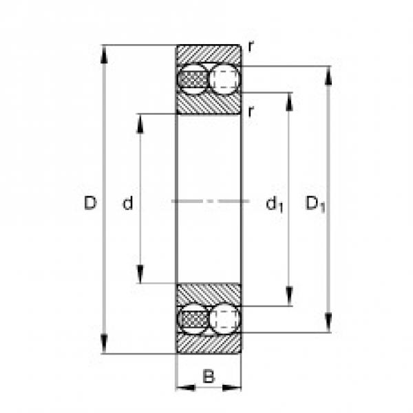 FAG 1208-TVH self aligning ball bearings #2 image