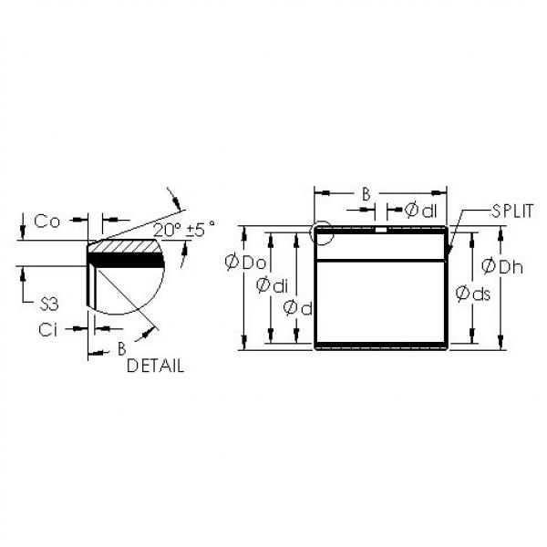 AST AST40 7580 plain bearings #2 image
