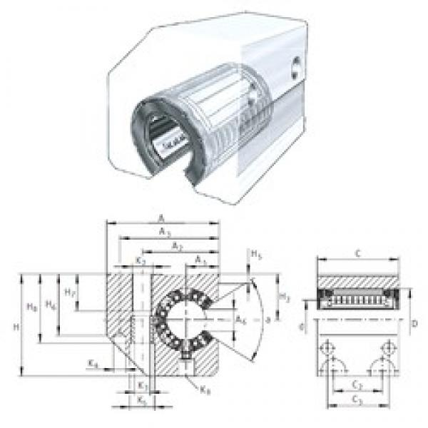 INA KGSC40-PP-AS linear bearings #3 image