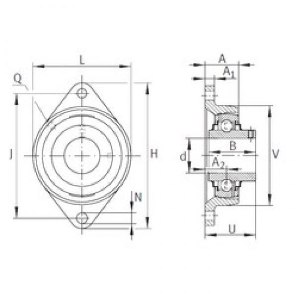 INA RCJTY3/4 bearing units #3 image