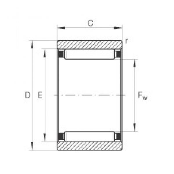 INA RNAO40X50X17 needle roller bearings #3 image