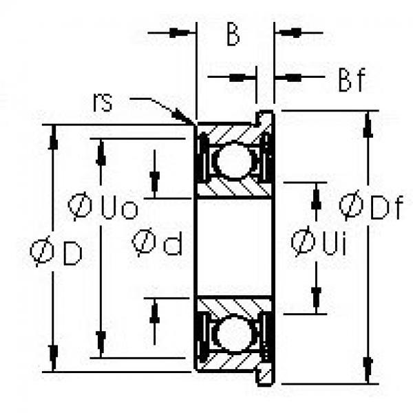 AST F692HZZ deep groove ball bearings #2 image