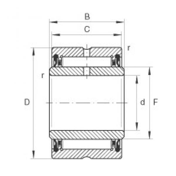 INA NA4902-2RSR needle roller bearings #3 image
