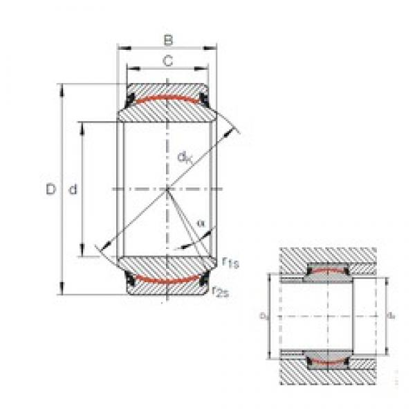 INA GE 80 UK-2RS plain bearings #3 image