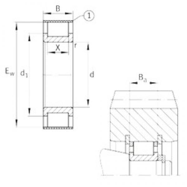 INA RSL182309-A cylindrical roller bearings #3 image
