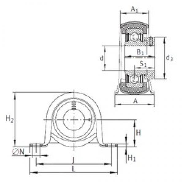 INA RPB12 bearing units #3 image