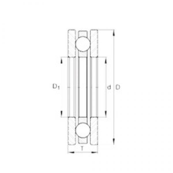 INA 4467 thrust ball bearings #3 image