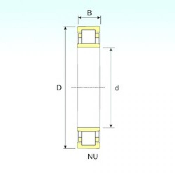 ISB NU 2344 cylindrical roller bearings #2 image