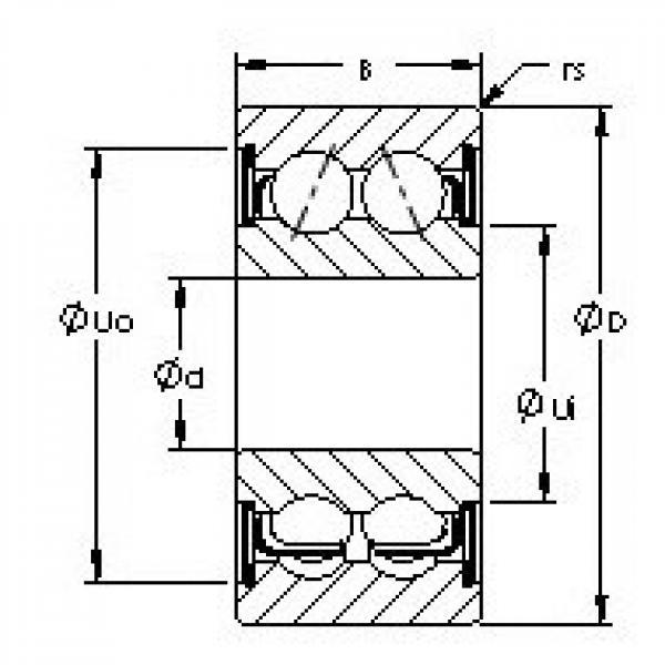 AST 5202ZZ angular contact ball bearings #2 image