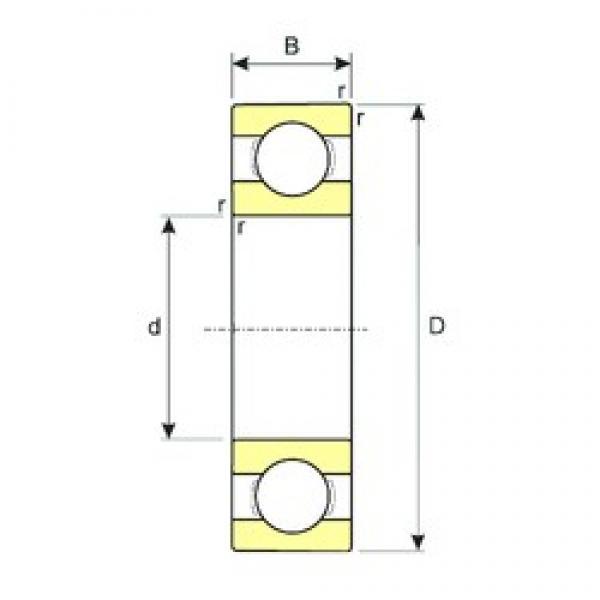 ISB 61817 deep groove ball bearings #2 image
