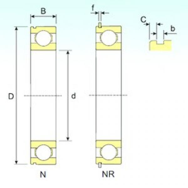 ISB 6004 NR deep groove ball bearings #2 image