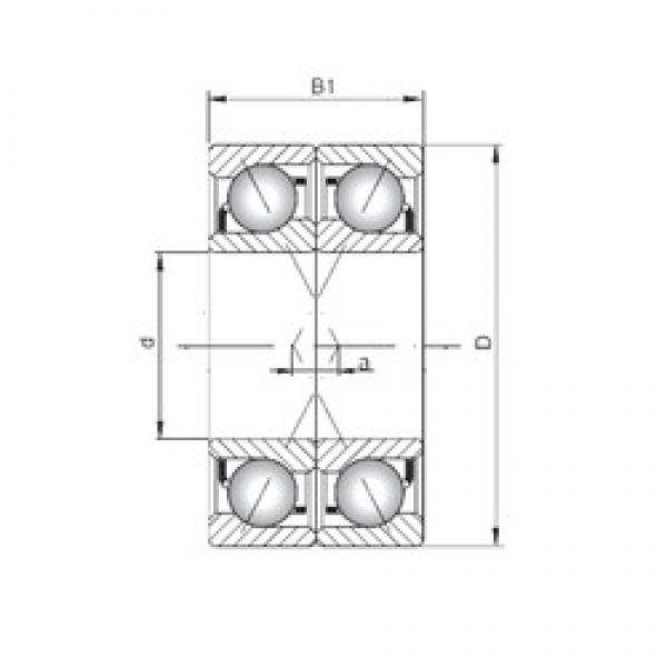 ISO 7236 CDF angular contact ball bearings #3 image